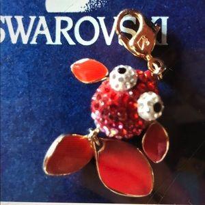 Authentic Swarovski lychee Fish Charm